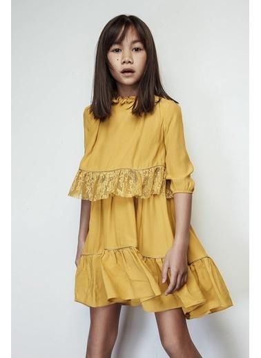 Lia Lea Kız Çocuk Sarı Elbise Sarı